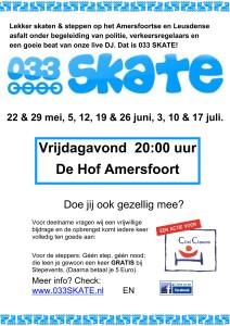 033 SKATE promo poster